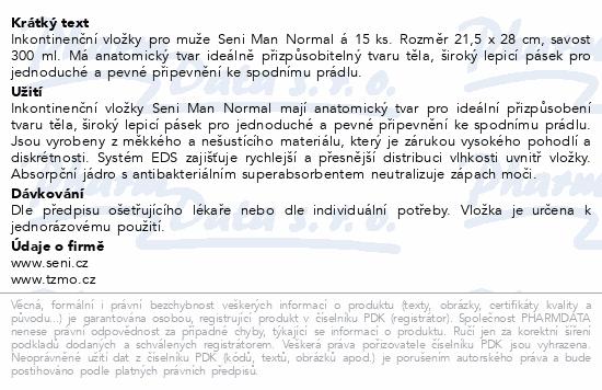Informace o produktu Seni Man Normal 15ks inkont.pomůcky