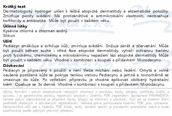 Informace o produktu Pediacyn proaktivní léčba atopické dermatitidy 45g