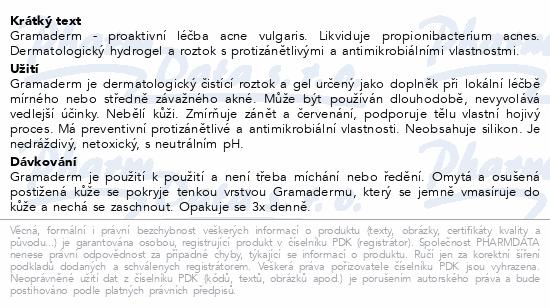 Informace o produktu Gramaderm proaktivní léčba acne vulgaris 60g+100ml