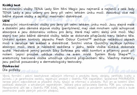 Informace o produktu TENA Lady Mini Magic ink.vložky 34ks 761052