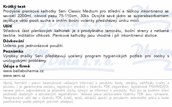Informace o produktu Seni Classic Medium 30ks ink. plen. kalh.