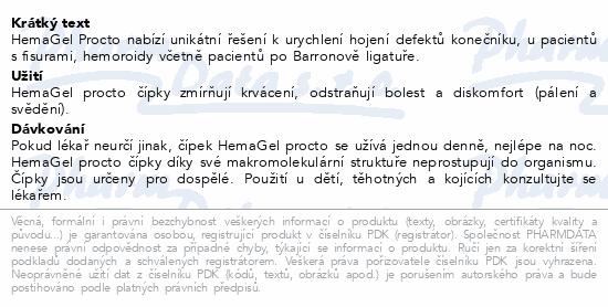 Informace o produktu HemaGel PROCTO čípky 10ks