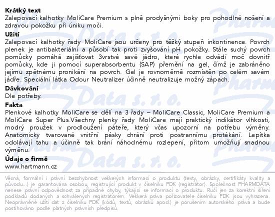 Informace o produktu MoliCare Prem 6kap M30ks/MoliCare Prem extraplus M