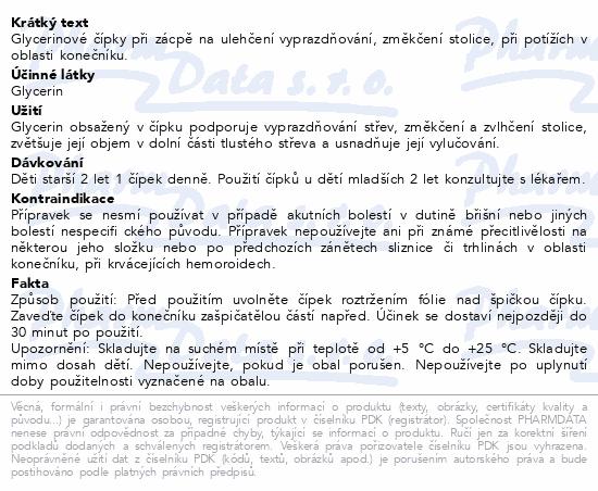 Informace o produktu Glycerinové čípky 1.0g dětské 12 čípků Dr.Müller