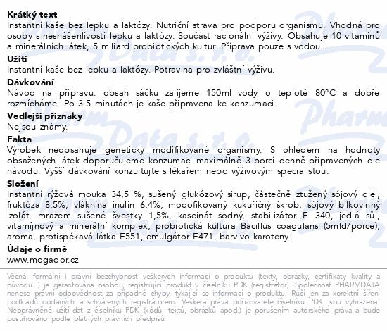 Informace o produktu Nutrikaše probiotic se švestkami 180g (3x60g)