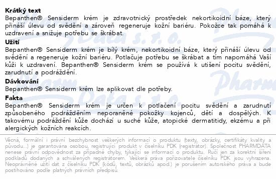 Informace o produktu Bepanthen Sensiderm krém 50g