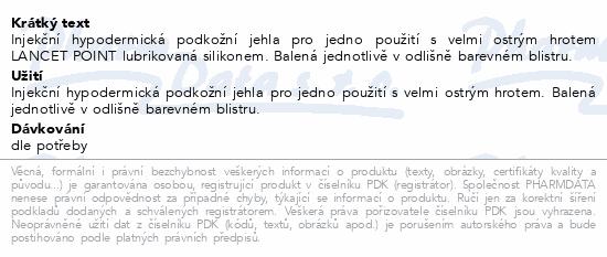 Informace o produktu Inj.jehla TERUMO 23Gx1 1/4 -0.60x32 modrá 100ks