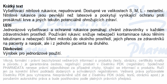 Informace o produktu ABENA Rukavice vyšetř. NITRIL L nepudr. bílé 200ks