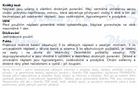 Informace o produktu MIXPORE Náplasti dětské a univ.+alk.polštářky 15ks