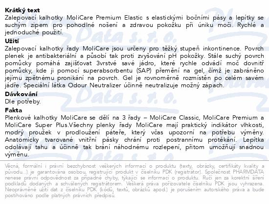 Informace o produktu MOLICARE ELASTIC 6kap L 30ks(MoliCare Elastic L)