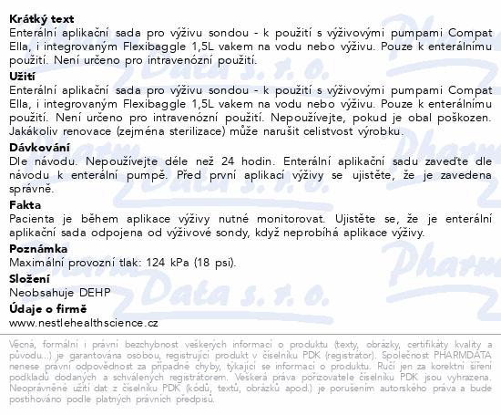 Informace o produktu Compat Ella Pump Combiset 1.5l ENFit