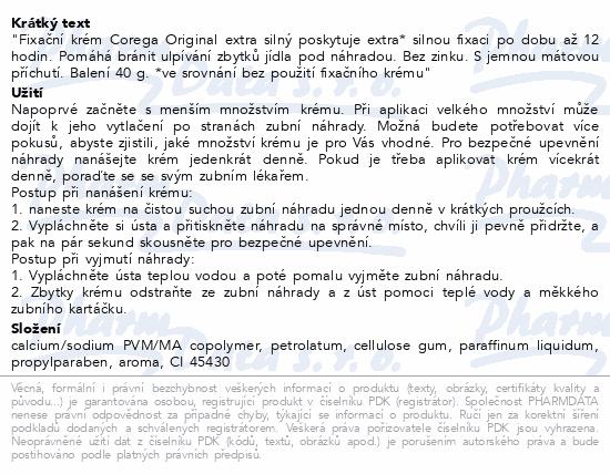Informace o produktu Corega Original extra silný 40g