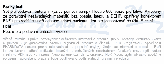 Informace o produktu Flocare 800 Bottle Set NOVÝ