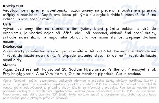 Informace o produktu Fytofontana ViroStop nosní sprej 20 ml