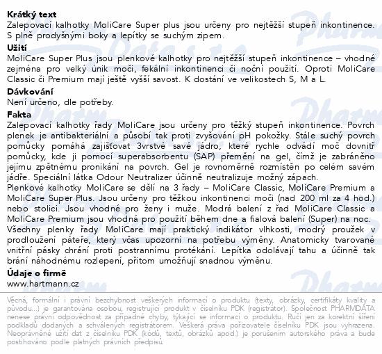 Informace o produktu MOLICARE 8kap L 30ks (MoliCare Super plus L)
