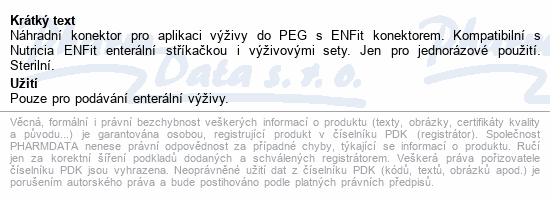 Informace o produktu Flocare PEG Connector CH18