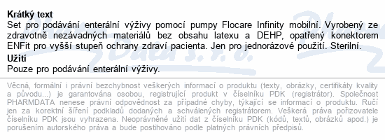 Informace o produktu Flocare Infinity Pack Mobile Set