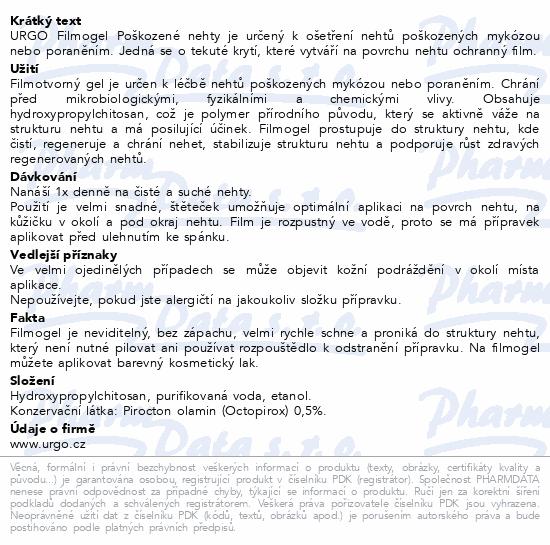 Informace o produktu URGO FILMOGEL Poškozené nehty 3.3ml