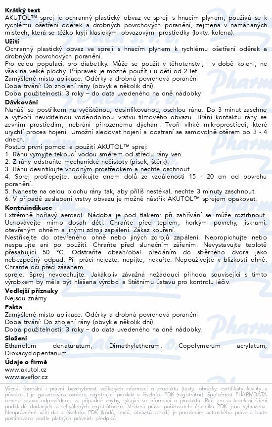 Informace o produktu Akutol sprej - mini 35 ml