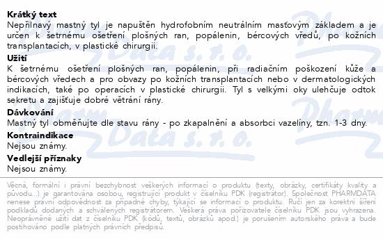 Informace o produktu Krytí sterilní-mastný tyl 10cmx2m/1ks Steriwund