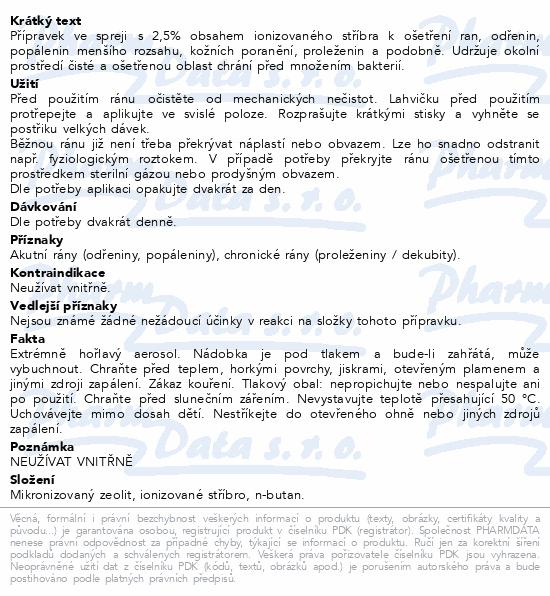Informace o produktu ALFASILVER sprej 50 ml