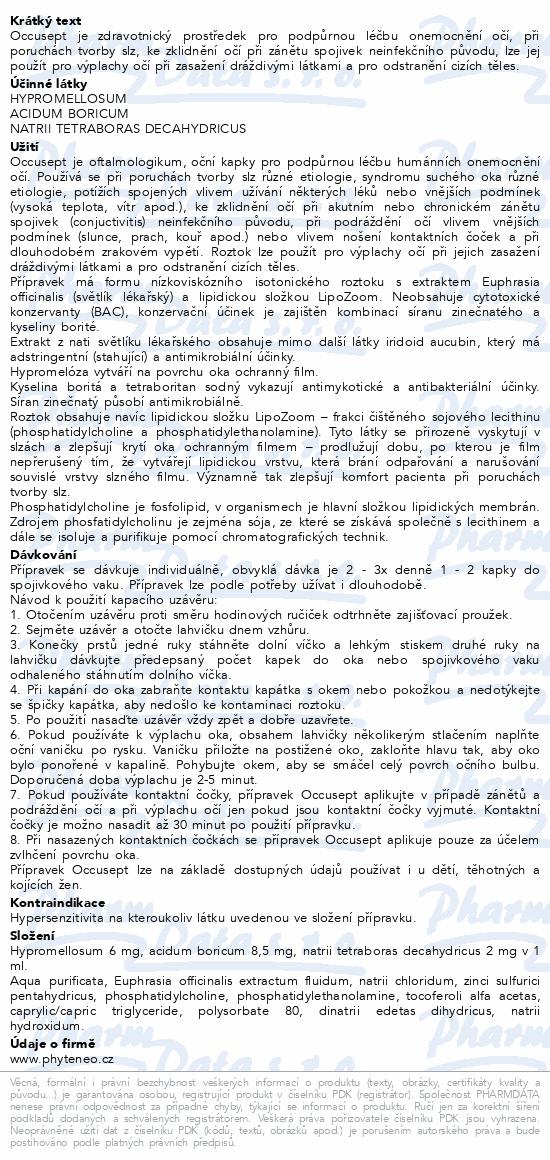Informace o produktu Phyteneo Occusept aqua opht. 2x20ml