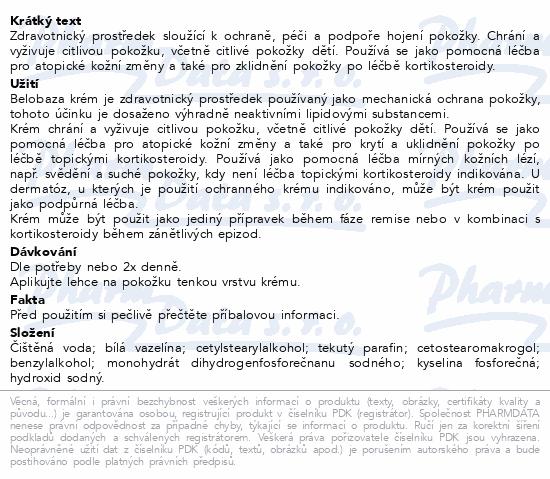 Informace o produktu Belobaza krém 400g