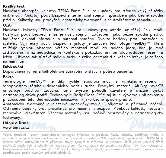 Informace o produktu TENA Pants Plus XXS ink.kalh.14ks 792214