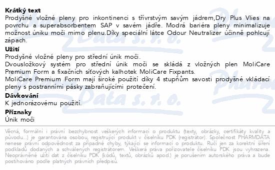 Informace o produktu Inkont.vlož.plena MOLICARE Prem. Form Normal+ 30ks