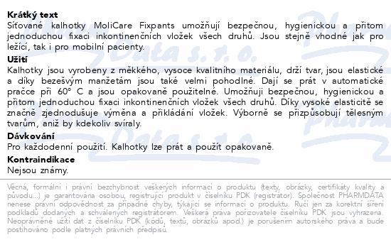 Informace o produktu Inkont.fixač.kalh. MOLICARE Prem. Fixpants S 5ks