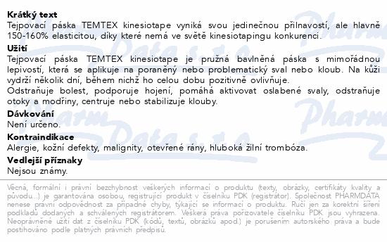 Informace o produktu Tejp. TEMTEX kinesio tape žlutá 5cmx5m