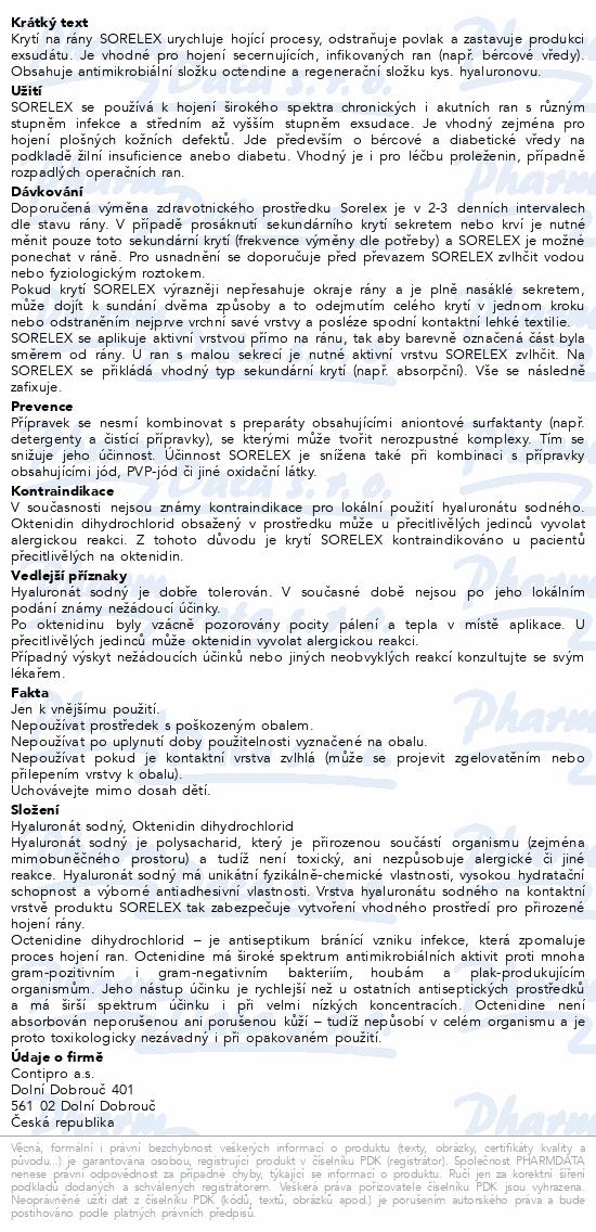 Informace o produktu Sorelex antimikrobaální krytí 10x10cm 10ks