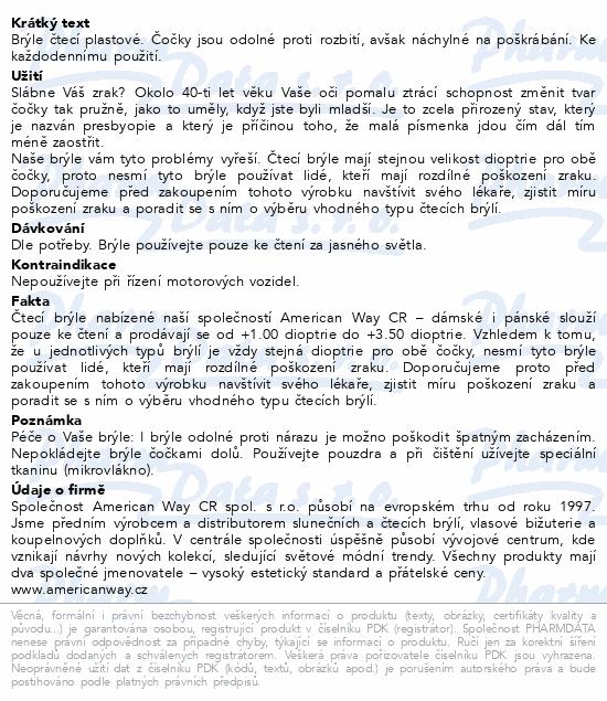 Informace o produktu Brýle čtecí +2.50 černo-květinové