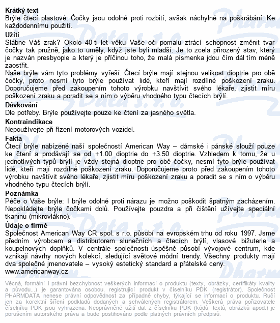 Informace o produktu Brýle čtecí +1.00 černo-květinové