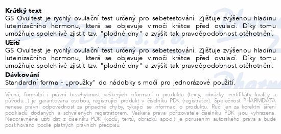 Informace o produktu GS Ovultest 3v1 3ks