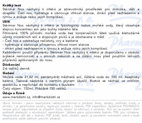 Informace o produktu Stérimar Cu Nos náchylný k infekci 50 ml