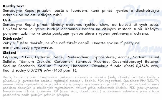 Informace o produktu Sensodyne Rapid 75 ml