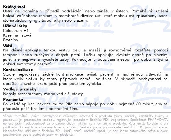 Informace o produktu EUTROSIS ORO GEL ústní gel 20ml