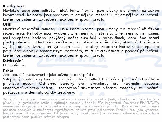 Informace o produktu TENA Pants Normal Large ink.kalh.10ks 791610