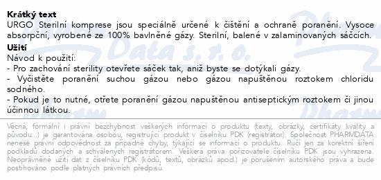Informace o produktu URGO Steril.komprese bavl.10x10cm 10sáčků á 2ks