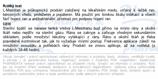 Informace o produktu L-Mesitran Soft 50g
