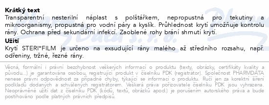Informace o produktu Rychloobvaz STERI*FILM 10x10cm/2ks Steriwund