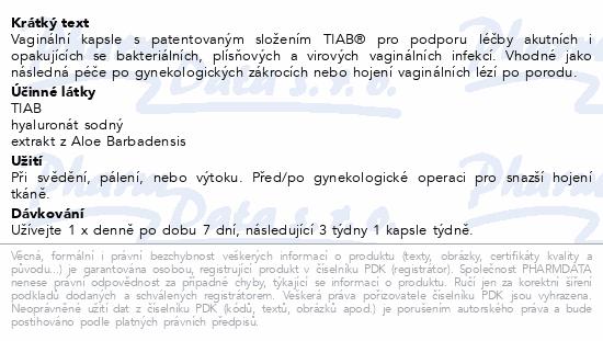 Informace o produktu GYNELLA Silver Caps 10 vaginálních tobolek