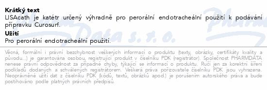 Informace o produktu LISAcath Katétr pro perorální endotracheální použ.