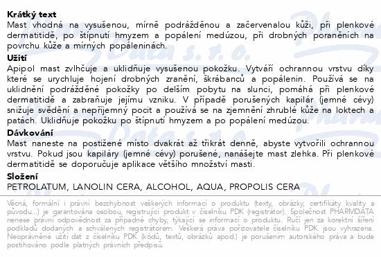 Informace o produktu Apipol mast 20g