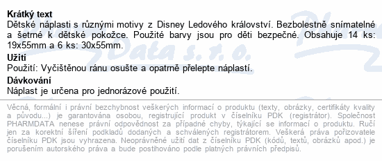 Informace o produktu Hansaplast Junior Frozen 20ks