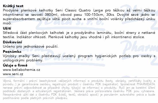 Informace o produktu Seni Classic Quatro Large á 30ks ink.plen.kalh.