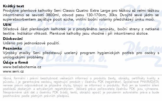 Informace o produktu Seni Classic Quatro Extra Large 30ks ink.plen.kal.