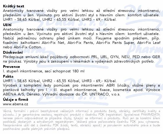 Informace o produktu Inkontinenční vložka Abena Light Mini 1. 20ks
