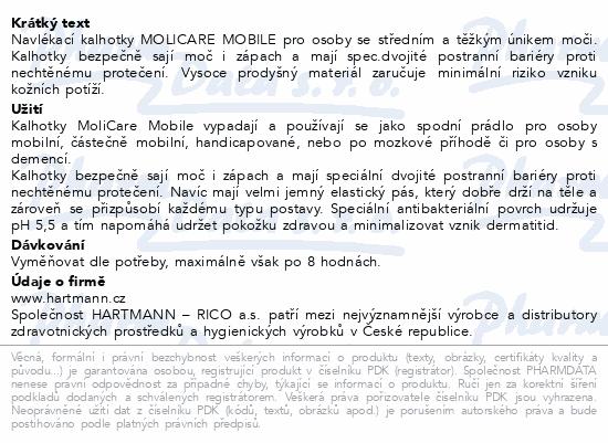 Informace o produktu MOLICARE MOBILE 6kap XS 14ks (MoliCare Mobil XS)